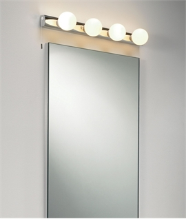 mirrored lighting. Dressing Room Mirror Light - Opal Glass Globes Mirrored Lighting