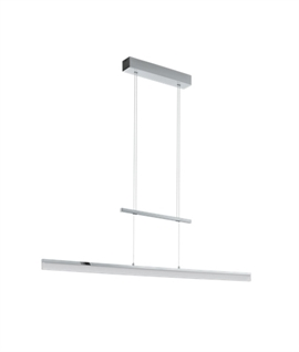 Polished Chrome LED Slim-Line Rise & Fall Bar