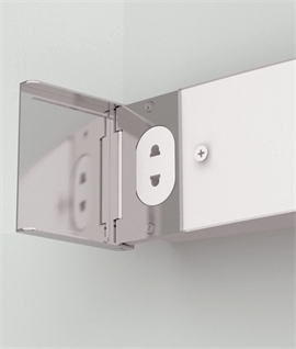 Bathroom wall shaver lights lighting styles polished chrome opal glass shaver light aloadofball Gallery