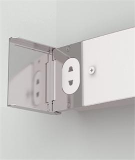 Polished Chrome u0026 Opal Glass Shaver Light ... & Bathroom Wall Shaver Lights | Lighting Styles azcodes.com