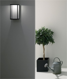 Ultra Modern Flush Mounted Exterior Lantern