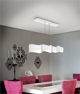 ... Matt White Four Light LED Dining Light