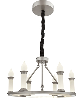 Modern Gothic LED 6 Light Chandelier
