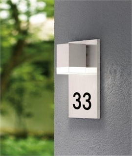 Square Illuminated House Number Plaque