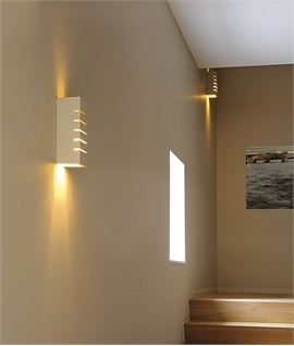 Up & Down Cut Plaster Wall Light