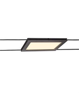 Rectangular Slimline LED Track Head for Tension Wire