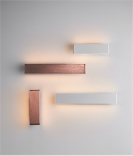 Up and Down LED Wall Light - White or Copper and 2 Sizes