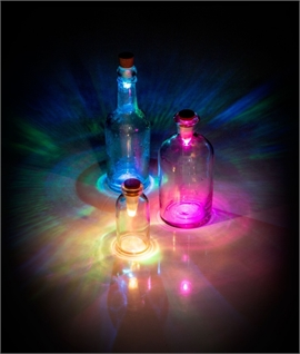 Multi Coloured LED Bottle Light USB Rechargeable
