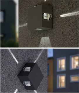 Wall luminaires with light emission on four sides