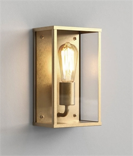Brass Exterior Flush Box Wall Lantern