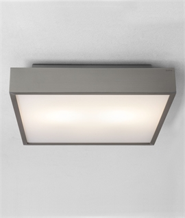 Square Bathroom Light - Wall or Ceiling Mounted