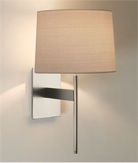 Elegant Wall Light with Fabric Shade