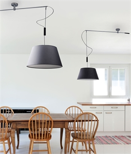 Adjustable Chrome Offset Ceiling Pendant - light where you need it
