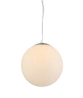 White Glass Globe Pendant