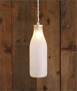 Milk Bottle Light - Opal Glass