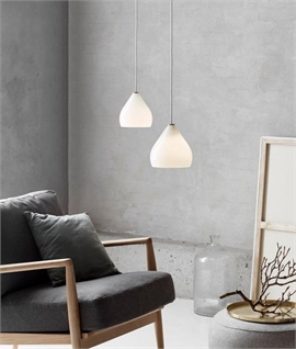 Contemporary Glass Pendant - Smoked & Opal Options