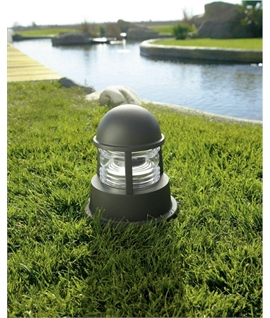 Nautical Style Exterior Pedestal Light