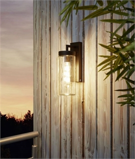 Jam Jar Exterior Wall Light - IP44 Rated