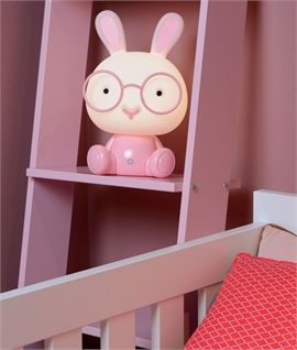 Pink Rabbit Night Light - 3 Stage Dimmer