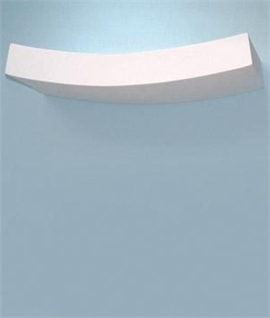 Curved Plaster Wall Lights : Slim Curved Plaster Wall Uplight with wall wash effect