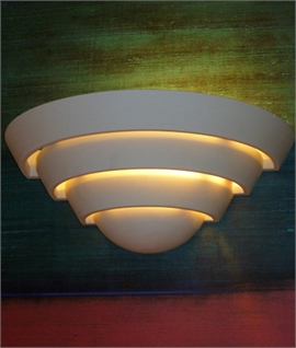 Plaster Wall Uplight In Tiered Design