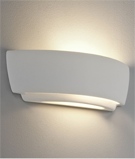 Tiered Ceramic Wall Light Up Down For E27 Lamps - W:370mm