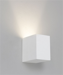 LED Square Plaster Wall Light H:100mm