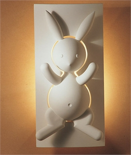Soft Backlit Nursery Plaster Wall Light - Rabbit