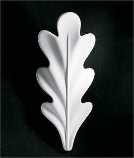 Oak Leaf Plaster Wall Light