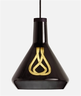 Hand-Blown Glass Shade Pendant Kit with LED Lamp
