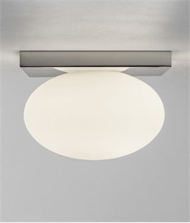 Polished Chrome Bathroom Ceiling Light IP44