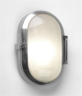 Oval Industrial Style Exterior IP65 Wall Light