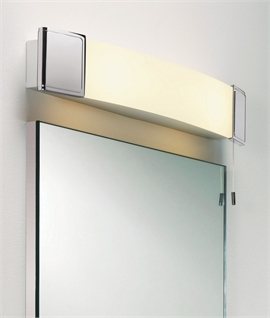 Bathroom wall shaver lights lighting styles polished chrome opal glass shaver light mozeypictures Image collections