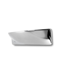 Curvy LED wall uplight in polished chrome finish