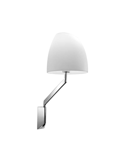 Chrome Swing Arm Wall Light & Shade
