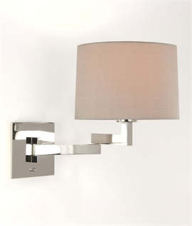 Modern Bedside Light with Swing Arm Bracket