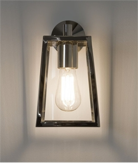 Contemporary Square Bracket Lantern - Exterior Wall Light