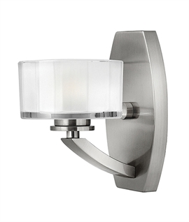 Brushed Nickel Art Deco Style Wall Light