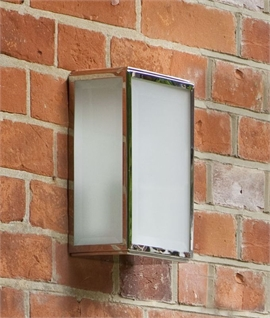 Contemporary Frosted Glass Outdoor Wall Lantern