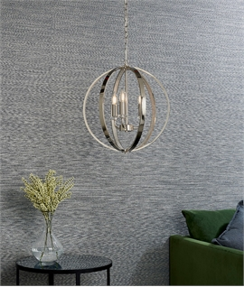 Premium Crystal Chandelier in Banded Globe