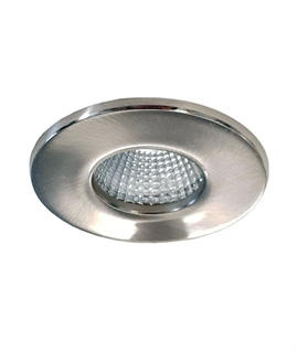 Integrated 7W LED Brushed Nickel Downlight - IP65 Rated