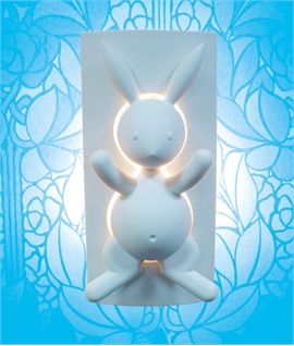 Nursery Plaster Wall Light - Rabbit