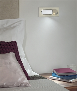 Flush Pull-Out LED Bedside Reading Light - 3 Finishes