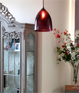 Aubergine Hand Blown Glass Shade Pendant
