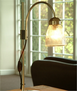 La Parisienne Table Lamp Fluted Glass Shade