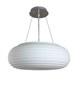Retro Matt White Opal Shade Pendant