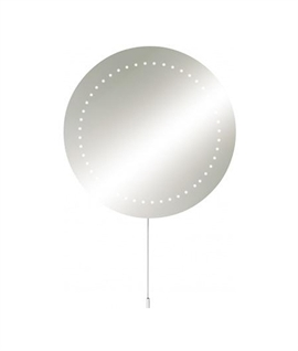 Round Bathroom Mirror Cool White LEDs D:500mm