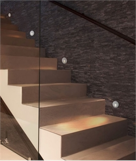 Recessed stair lights low level guide lighting recessed wall led step light in two designs mozeypictures Image collections