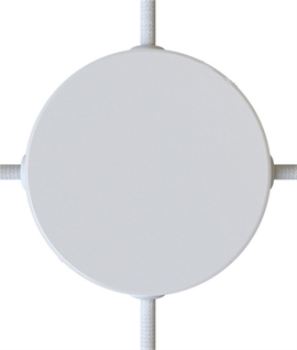 Round Ceiling Plate with 4 Entry Points