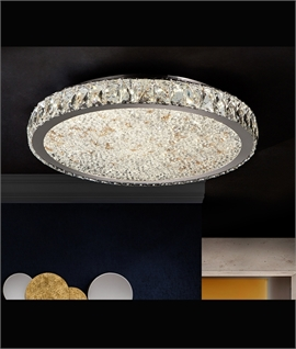 Flush Mounted Crystal & Chrome Ceiling Lights